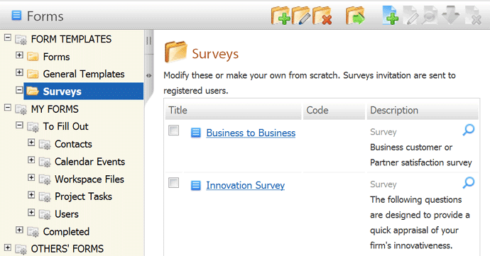 Online survey software for business same page user friendly folder based navigation for survey sample survey questionaire pronofoot35fo Choice Image